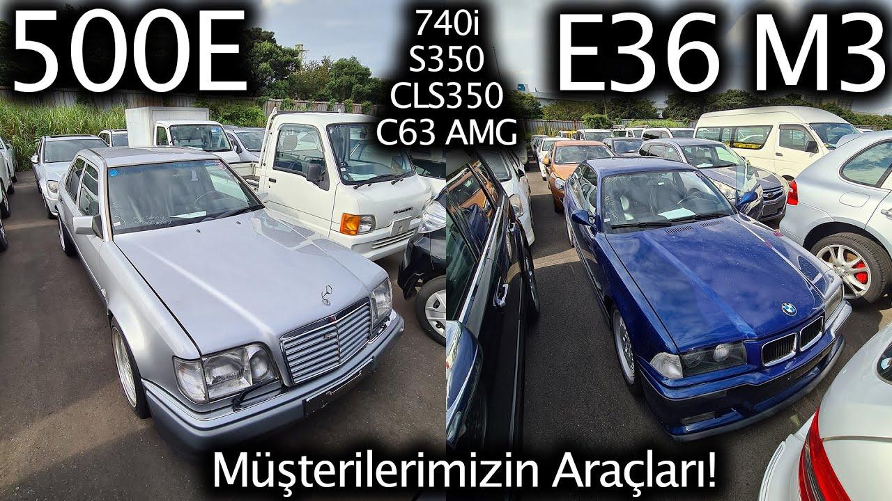 Çok Özel 500E, E36 M3, C63 AMG, 740i, S350, CLS350, Müşterilerimizin Araçları | Japonic Trade