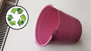 FROM BROKEN PLASTIC BUCKET LOOK WHAT I DO RECYCLE DIY переработка отходов