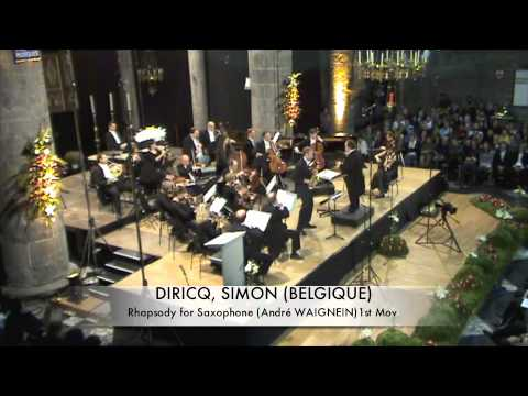 DIRICQ, SIMON (BELGIQUE) Rhapsodie for Saxophone part 1.m4v