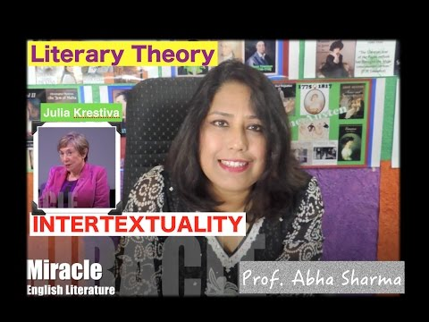 English Literature: Literary Theory : Intertexuality