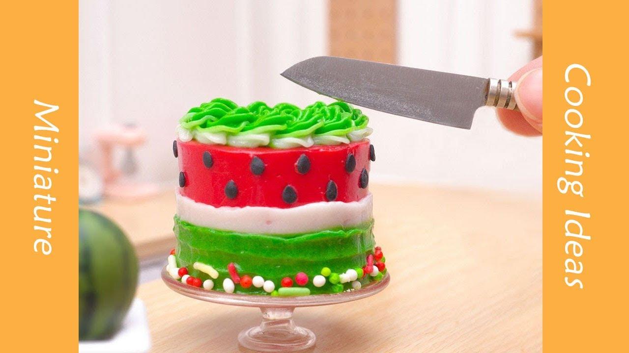 Creative Miniature Watermelon Cake Decorating #YumupMiniature