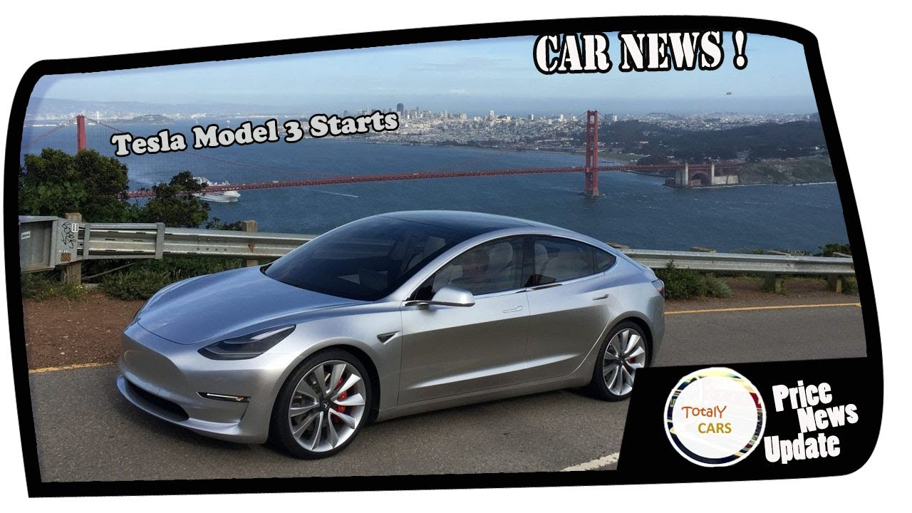 NEWS TODAY Tesla Model 3 : Production Begins, First Car Rolls off ...
