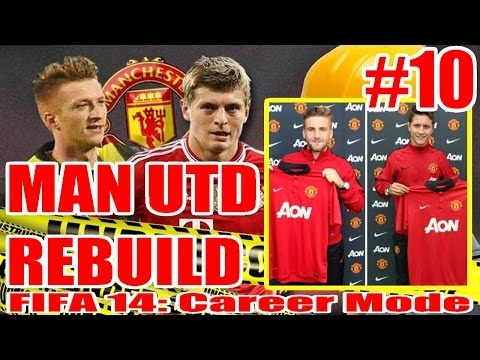 FIFA 14: Manchester United Rebuild Career Mode Ep 10: Herrera and Shaw Sign for United! (IRL)