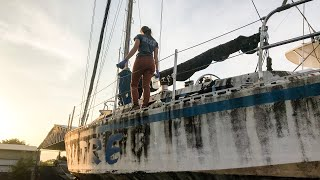 ⛵️REFIT of our ABANDONED Sailboat 💪(the plan) #089