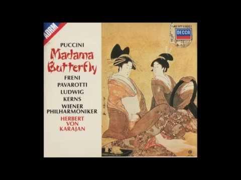 "Giacomo Puccini ""Madama Butterfly"" Freni, Pavarotti, Kerns, Ludwig; Karajan I"