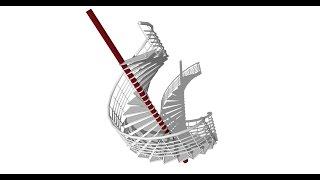 Buổi 8 khóa học SketchUp Online: Nguyên tắc dựng thang xoắn