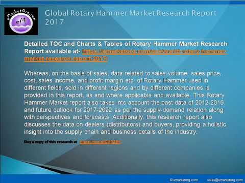 Rotary Hammer Industry 2017 to 2022 Global Market Research Report and Forecast