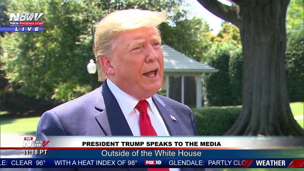 FOX 10 Phoenix SURPRISE: President Trump Talks To The Media AGAIN