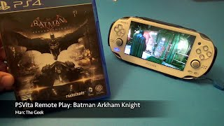 PSVita Remote Play: Batman Arkham Knight