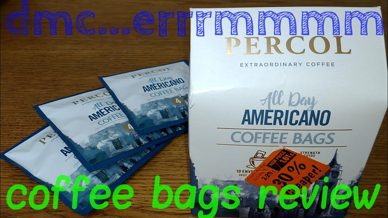 Percol All Day Americano Coffee Bags Review