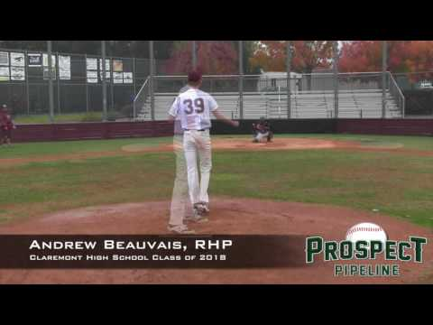 Andrew Beauvais Prospect Video, RHP, Claremont High School Class of 2018