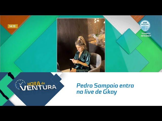 Pedro Sampaio entra na live de Gkay e reação da humorista viraliza