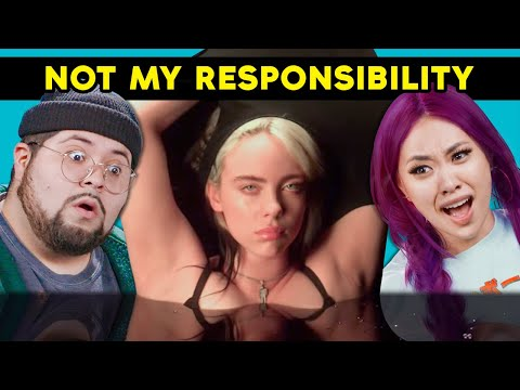 College Kids React To Billie Eilish - NOT MY RESPONSIBILITY - a short film