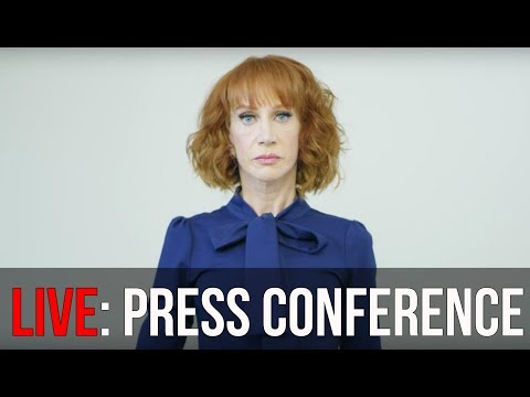WATCH: Kathy Griffin Speaks at Press Conference over President Donald Trump Bloody Head Controversy