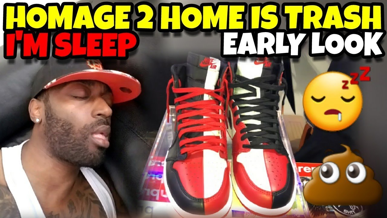 newest collection 86f04 2387a Jordan 1 Homage to Home Is TRASH!! Early Detailed Look
