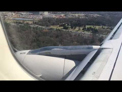 United Airlines Airbus A320 Landing Atlanta To Dulles