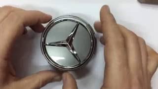Колпачки на литые диски Mercedes Benz серебро бочка(, 2016-01-06T14:07:32.000Z)