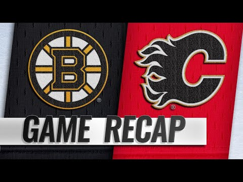 Frolik scores two as Flames down Bruins, 5-2