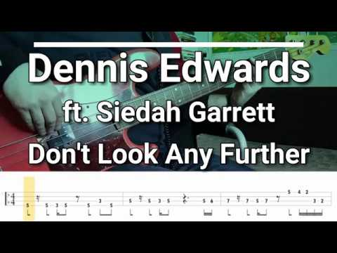 Dennis Edwards - Don't Look Any Further ft. Siedah Garrett [TABS] bass cover