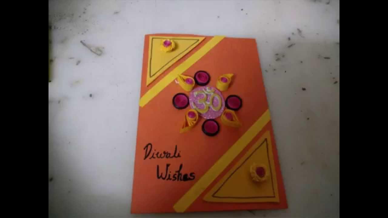 Card Making Ideas For Diwali Part - 32: Diwali Card Making Idea For Kids/DIY Cardmaking - YouTube