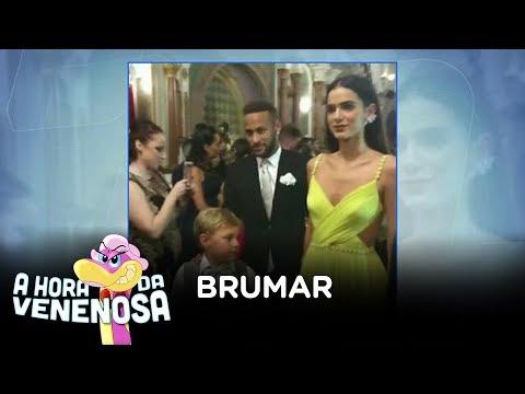Neymar e Bruna Marquezine são padrinhos em casamento de ex-jogador