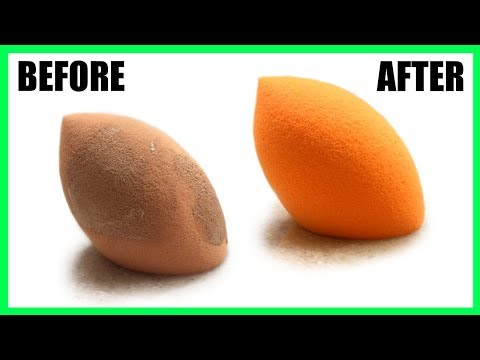 How to Clean a Beauty Blender Sponge in 30 SECONDS | BEAUTY BLENDER CLEANING HACK FOR NO STAINS!