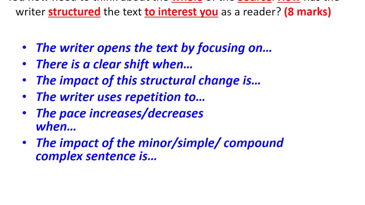 how to study for language a paper 1