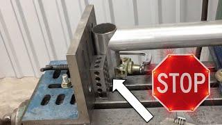 Fabrication Basics // Stop Measuring - use a Stop block - Perfect Tube Notching Jig! - Hole Saw