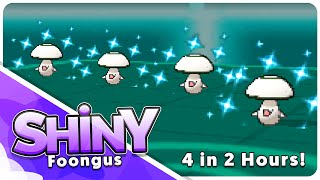 4 Live Shiny Foongus in 2 Hours! Live Reactions Montage!