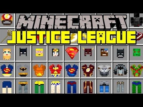 Minecraft JUSTICE LEAGUE MOD! | SUPERMAN,  FLASH, WONDER WOMAN, BATMAN, AQUAMAN! | Modded Mini-Game