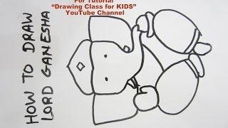 How to Draw- Cute Lord Ganesha Ganpati Step by Step Tutorial for Kids
