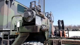 M1070 DP Dual 55000 lbs winch take off C&C Equipment 812-336-2894 ccsurplus.com