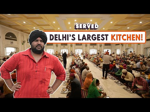 Delhi's Biggest Langar at Gurudwara Bangla Sahib | Best Indian Food | Served #14