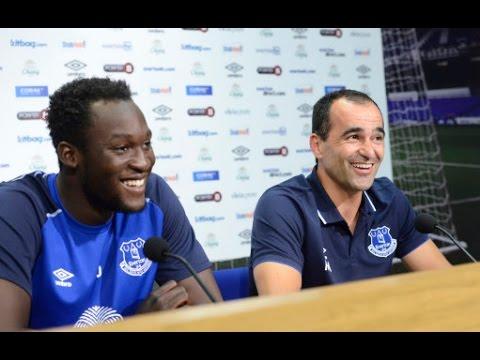 PRESS CONFERENCE: Romelu Lukaku signs for Everton