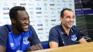 PRESS CONFERENCE: Romelu Lukaku signs for Everton