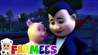 доктор дракула хэллоуин рифмы развивающий мультфильм Farmees Russia Детские стишки