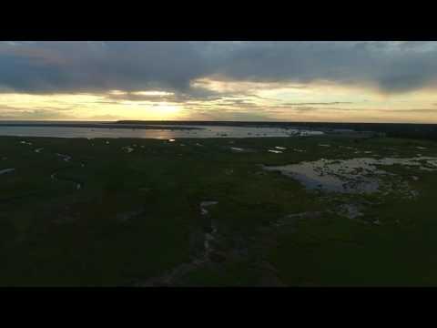Phantom 4: Sunset and Commercial Fishing On The Kenai River