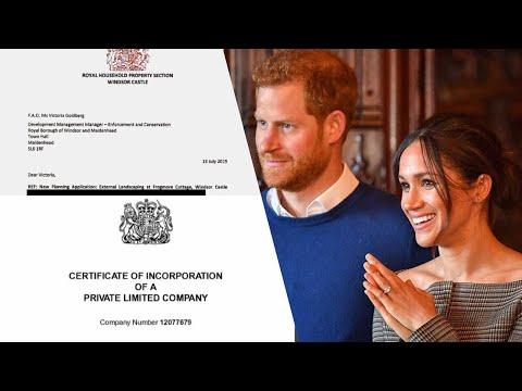 Harry & Meghan's Royal Foundation Name Revealed! & Frogmore Cottage Retrospective Planning Letter!