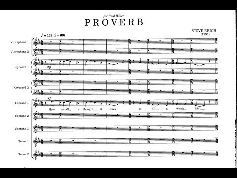 Steve Reich: Proverb (with score)