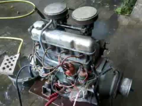 Volvo penta B18 Marine engine Cold start - YouTube