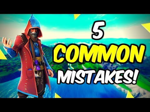 5 Common Mistakes You Keep Making In Fortnite!
