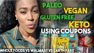Whole foods vs. Walmart Grocery shopping! Healthy Foods