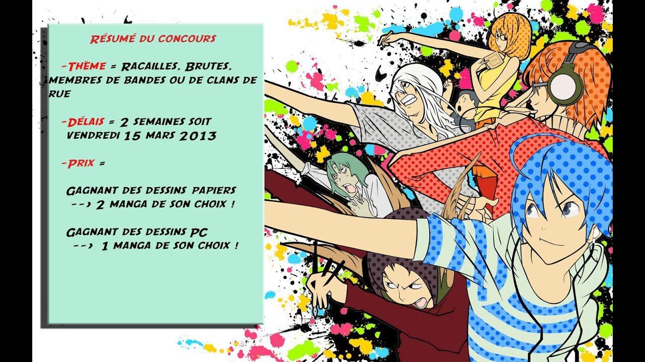 dessin manga concours