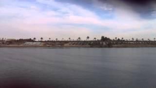 مشهد عام للحفر بقناة السويس الجديدة من قاطرة بقناة السويس