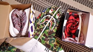 crazy hyped adidas pickups bape kith ultraboost