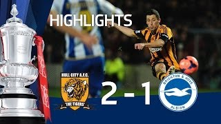 Hull City vs Brighton & Hove Albion 2-1, FA Cup Fifth Round replay goals and highlights