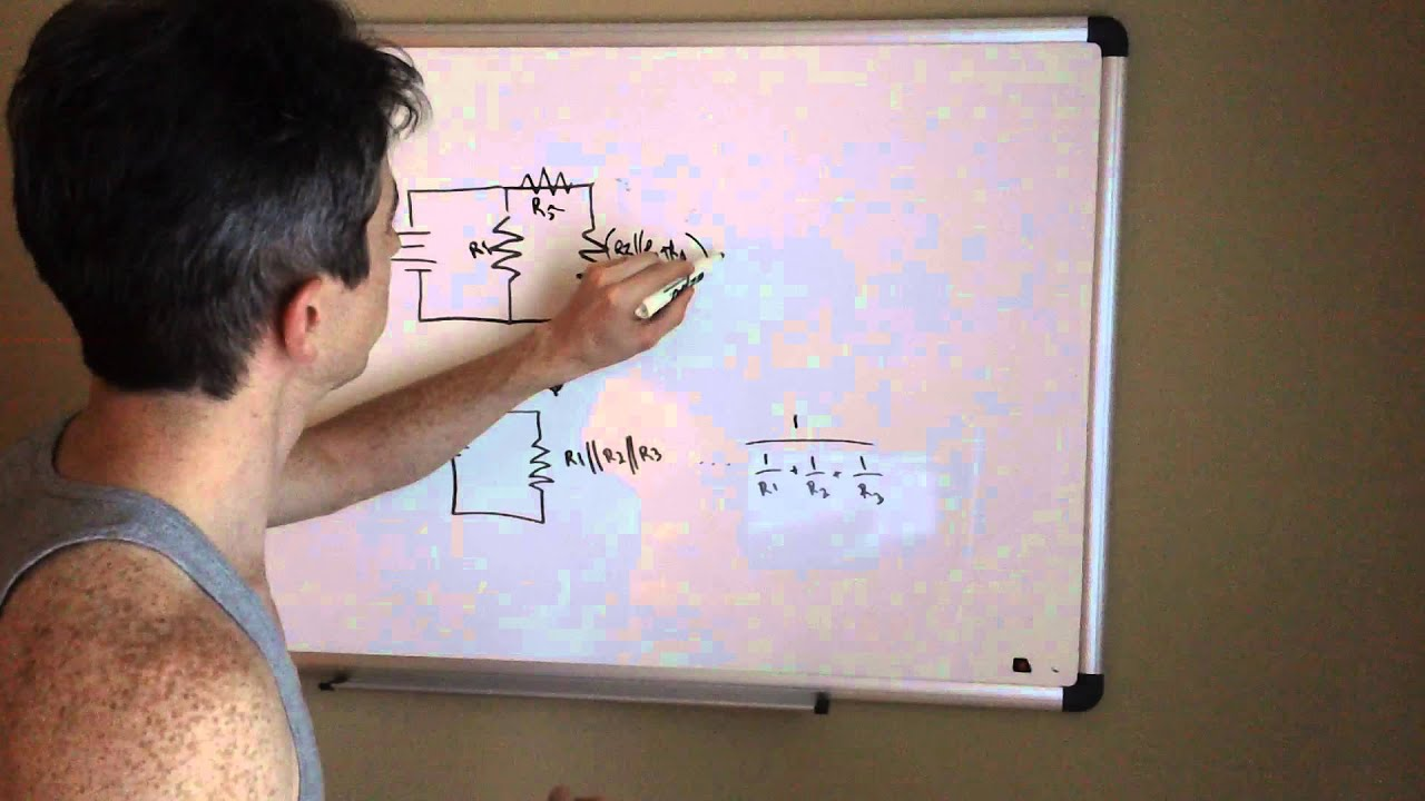 Simplifying Series Parallel And Circuits Youtube Circuit Diagram