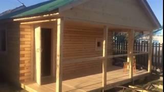 Строительство бани 5х3 с террасой под ключ в Казани