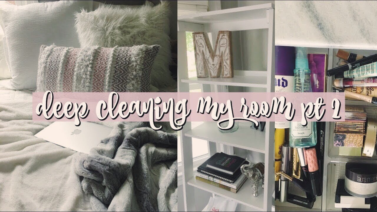 Reorganizing Room: DEEP Cleaning My ROOM!! Redecorating & Reorganizing Pt 2