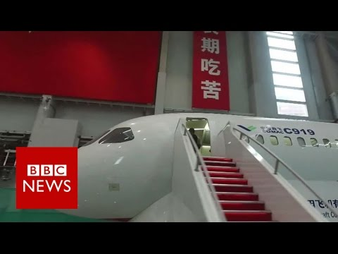 Video: A tour of China's first big passenger jet The C919 - BBC News